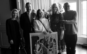 Kathrine Synnes Finnskog (t.v), H.K.H Kronprinsen, Karen Norbakk, H.K.H. Kronprinsessen og Tim Blacksmith. Foto: Olav Stubberud / Music Norway