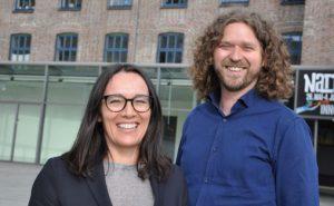 Elisabeth Halvorsen og Ivar C. Vogt  i USF Verftet Foto: Evy Sørensen