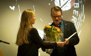 Kulturbyråd Julie Andersland og Håkon Matti Skrede
