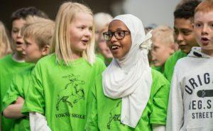 Skolenes sangdag, ved Voksen skole i Oslo