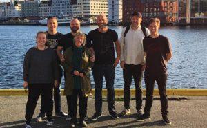 Det nye styret i 100 Dagar, Martha Lyse (STAR), Vegard Moberg (BRAK), Trude Storheim (VossaJazz), Sigvard Madsen (Tysnesfest), Daidalos Dahle (Festidalen), Haakon Vatle og Jostein Sydnes.