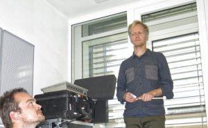 Kan man lære anti-lytting av musikkmaskiner, er et av spørsmålene som skal utforskes i det nye, treårige NMH-prosjektet til Ivar Grydeland (oppe) og Morten Qvenild (nede) Foto Tellef Øgrim
