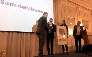 TONO mottar Samvirkeprisen på Grand Hotel i Oslo tirsdag