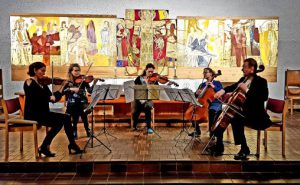 Oslofilharmonikere spiller Schubert under Asker Kammermusikkfestival Foto: Povilas Syrrist-Gelgota