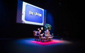 "Bilde fra seminar på Bylarm 2018, ""Tales from the Punkerpad"" med Andrew Scheps"
