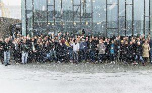 Norsk jazzforums landsmøte i Trondheim 2019: Hundre deltakere samlet i snøføyka foran Dokkhuset