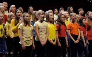 Sangkor under Skolenes sangdag i Oslo Konserthus onsdag 12. juni