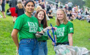 Natur og Ungdom har hjulpet Øyafestivalen med å sortere avfall i flere år