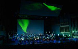 """Åpningskonserten Ultima 2019, """"Lyden av Arktis"""" av komponist Lasse Thoresen, framført av symfoniorkesteret Arktisk Filharmoni"""