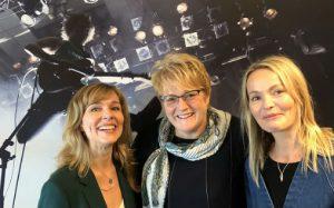 Fra lanseringen av eksportprogrammet Musikk ut i verden 12. september. Fra venstre: Margit Klingen Daams, leder for kreativ næring i innovasjon Norge, kultur- og likestillingsminister Trine Skei Grande og Kathrine Synnes Finnskog, direktør i Music Norway