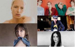 Artistprisen 2019 til (øverst, fra venstre) Bendik Giske, Pom Poko, Hans Petter Bårli, Mette Henriette, Malin Pettersen