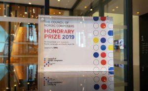 Plaketten til æresprisen fra Nordisk Komponistråd til Ung Nordisk Musikk (UNM)
