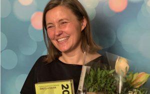 Anne Karin Sundal-Ask mottok fredag 6. desember Komponistforeningens pris Årets utøver 2019