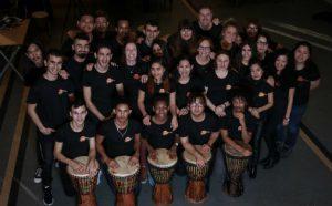Kveldskoret i Levanger. Koret består av 30 medlemmer som representerer 13 forskjellige land