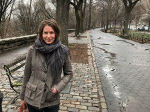 Rebecka Ahvenniemi i New York. 20. februar ble det nye verket hennes, «An Anarchist's Love Letter to a Conservative», uroppført av International Contemporary Ensemble i verdensbyen